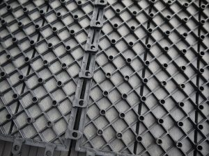 Gartenfreude everfloor piastrelle da esterni in wpc materiale