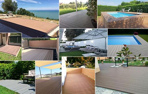 lavori completi materiale decking composito pavimenti shop online WPC prezzi online