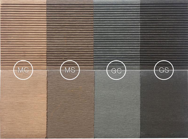 colori doghe pavimenti decking WPC bamboo 150x