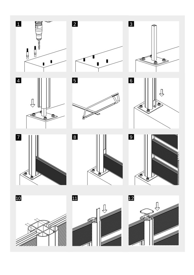 schema manuale di posa installazione staccionata recinzione wpc